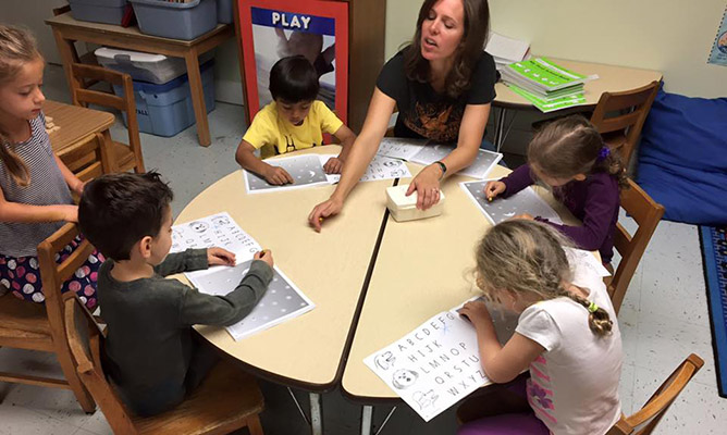 Children using the Handwriting Without Tears program