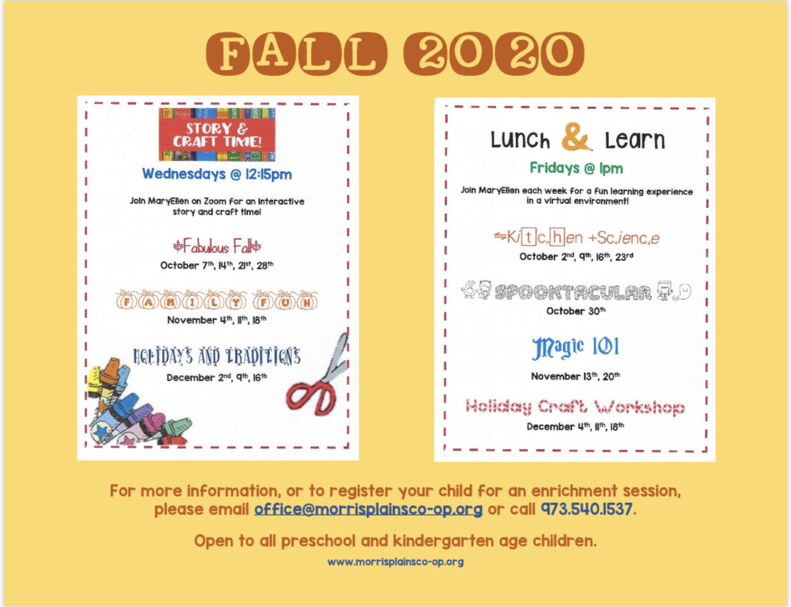 Enrichments for Fall 2020