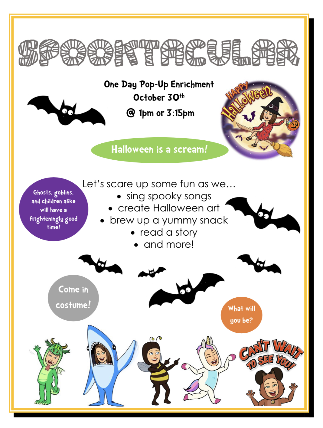 Spooktacular Enrichment -NEW TIME